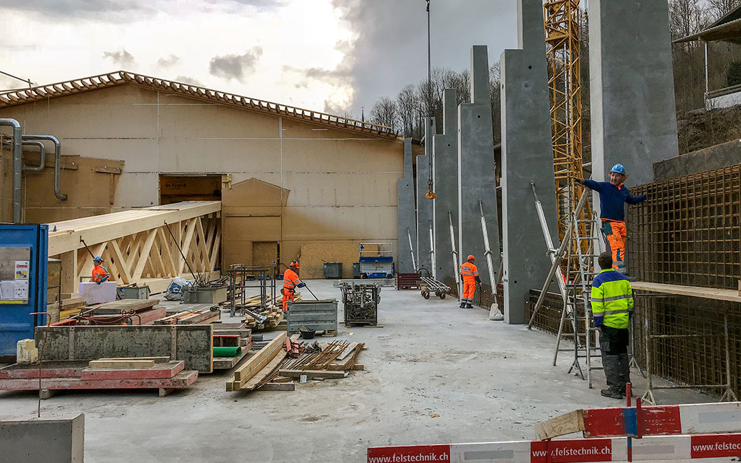 Produktionshalle neue Holzbau AG