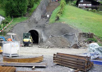 Portal Zugangsstollen unten