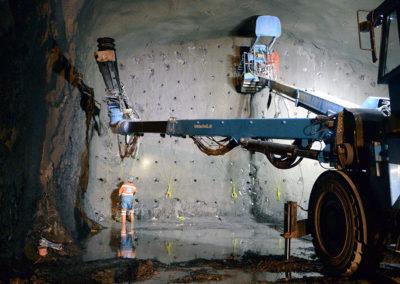 Vorbereitungsarbeiten für die Sektorensprengung