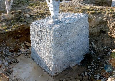 Fundament nach dem Höchstdruckwasserstrahlen