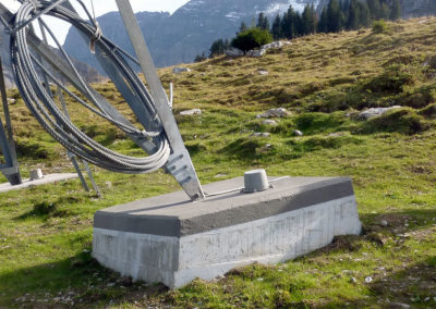 Luftseilbahn-Fundamente Tschingel