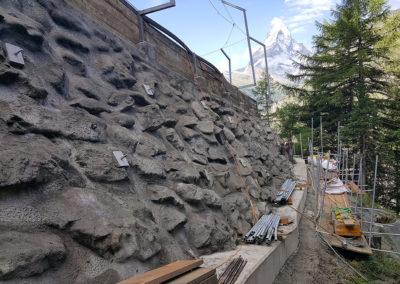 Verankerung der Blockmauer