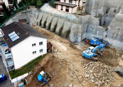 Luftaufnahme Baugrube