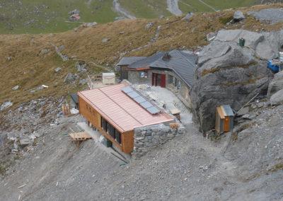 Übersicht SAC Spannorthütte mit Um- und Erweiterungsbau