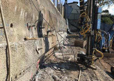Baugrubensicherung mit Anker