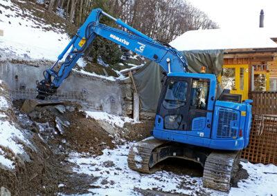 Aushub und Baugrubensicherung