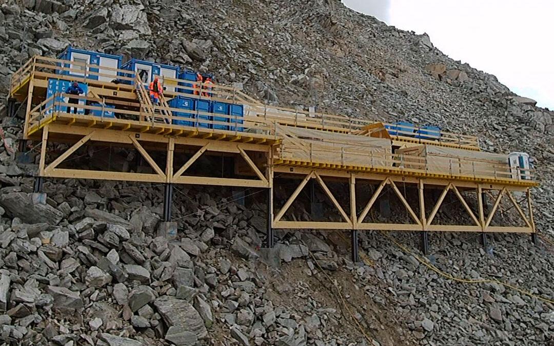 Installationsplattform Rothorn Zermatt
