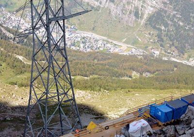 Installationsplattform mit Blick nach Zermatt